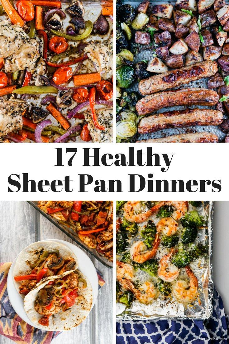Seventeen Healthy Sheet Pan Dinners