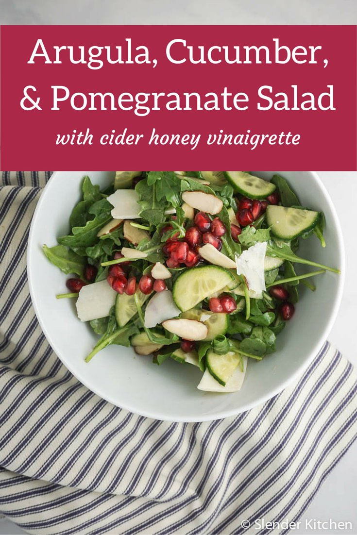 Arugula, Cucumber, and Pomegranate Salad - Slender Kitchen