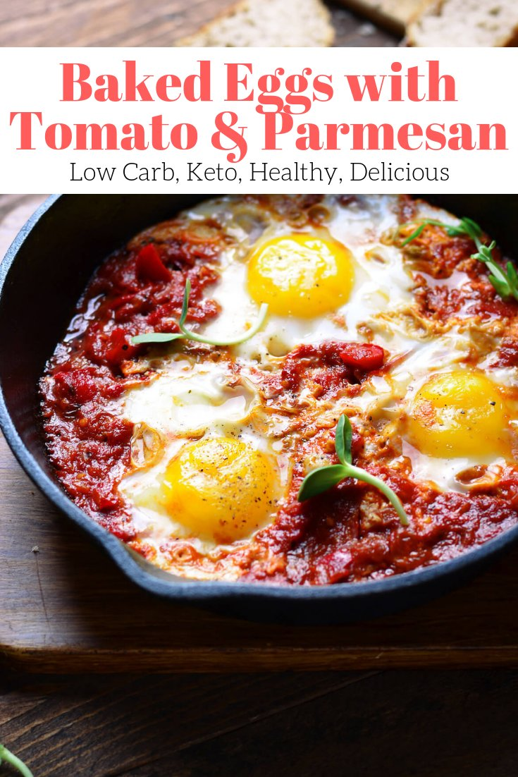 Baked Eggs with Tomatoes and Parmesan