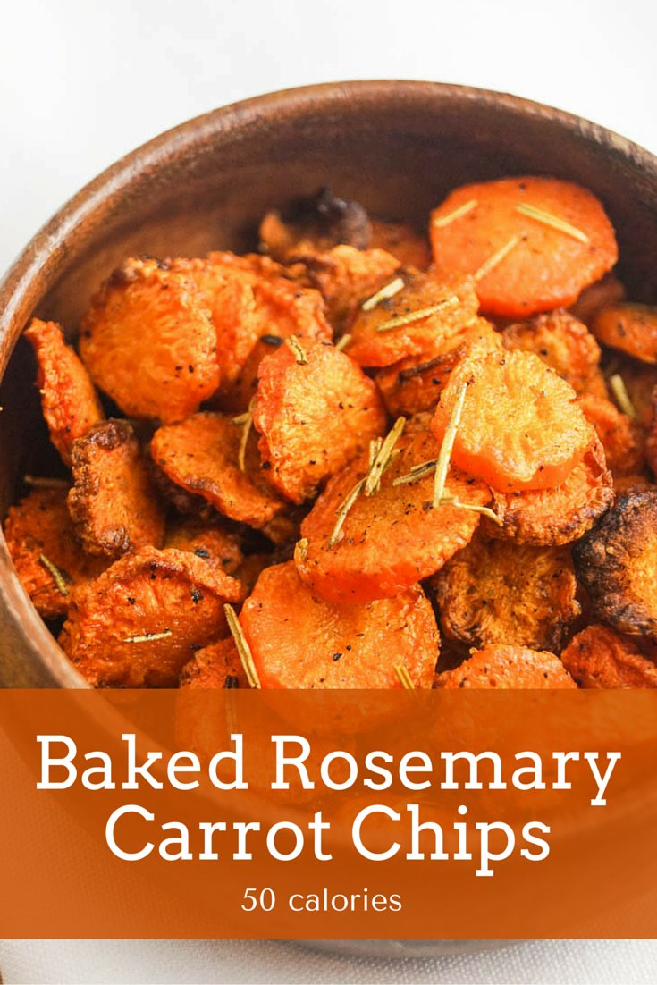 Baked Rosemary Carrot Chips