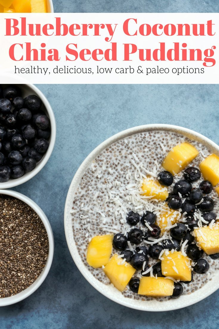 Blueberry Coconut Chia Seed Pudding