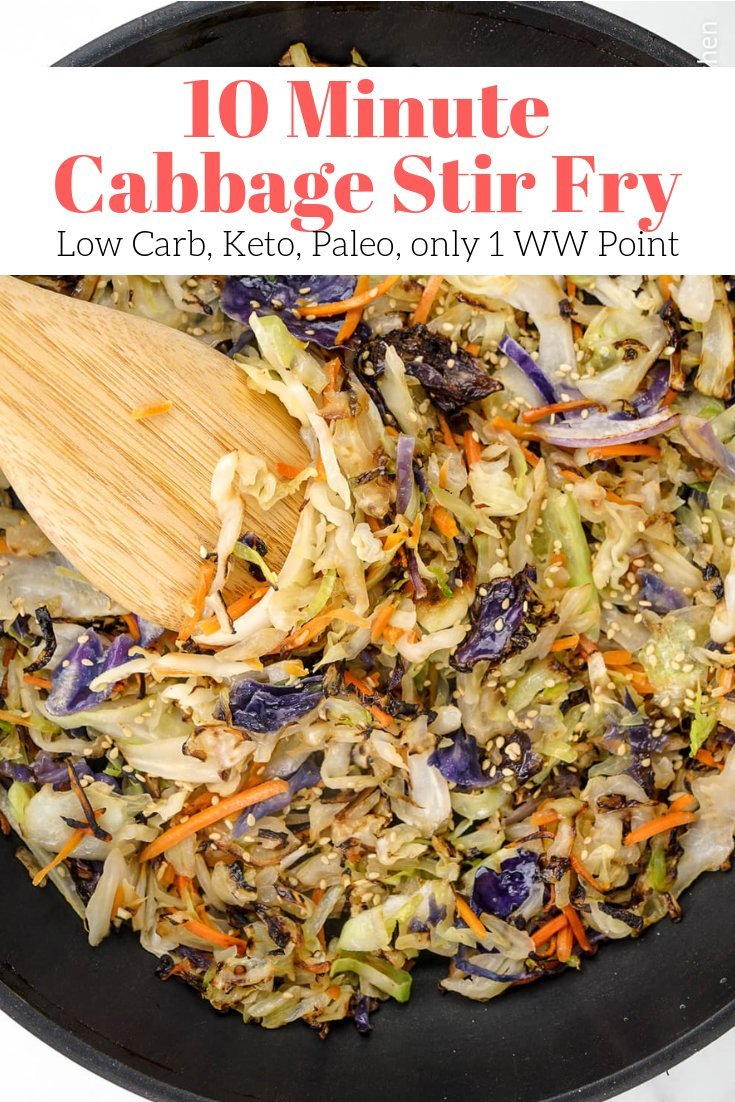 10 Minute Cabbage Stir Fry