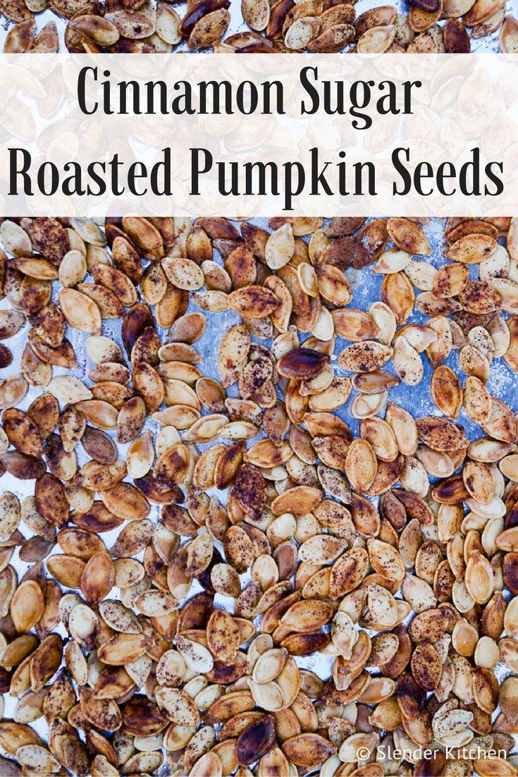 Cinnamon Sugar Roasted Pumpkin Seeds