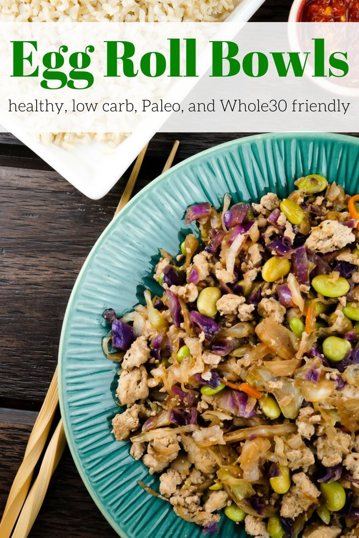 Egg Roll Bowls are the healthy way to enjoy all the flavors of a traditional Chinese egg roll without the fat and calories - low carb and Paleo.