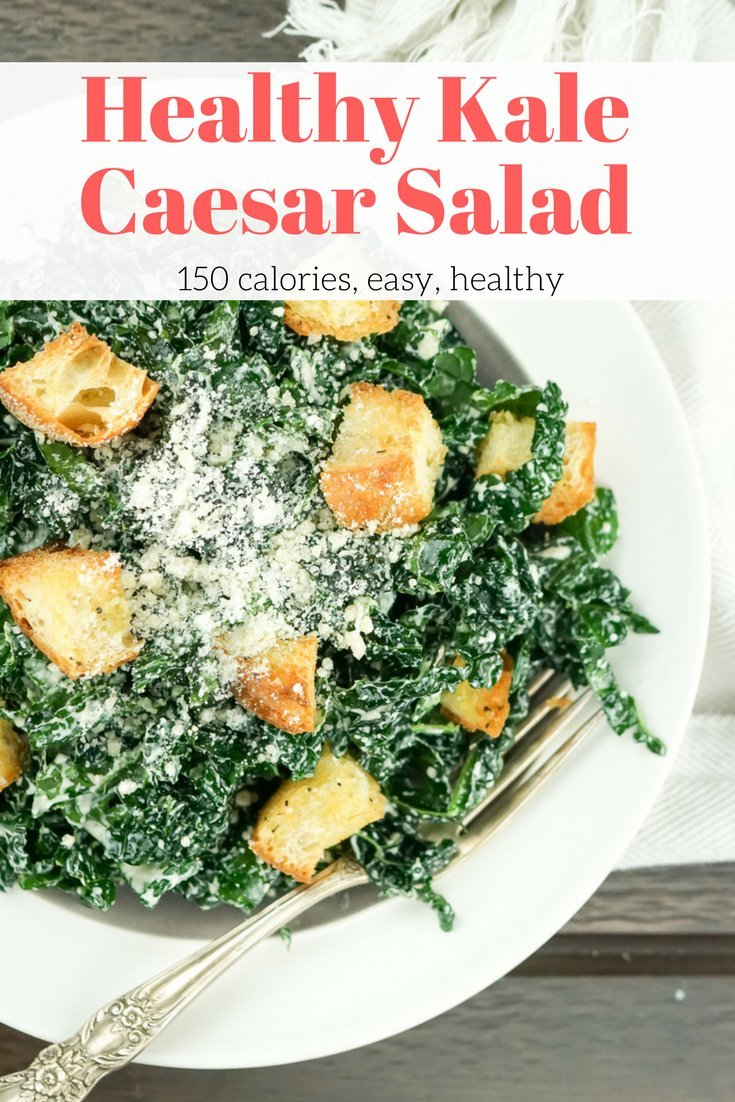 Healthy Kale Caesar Salad
