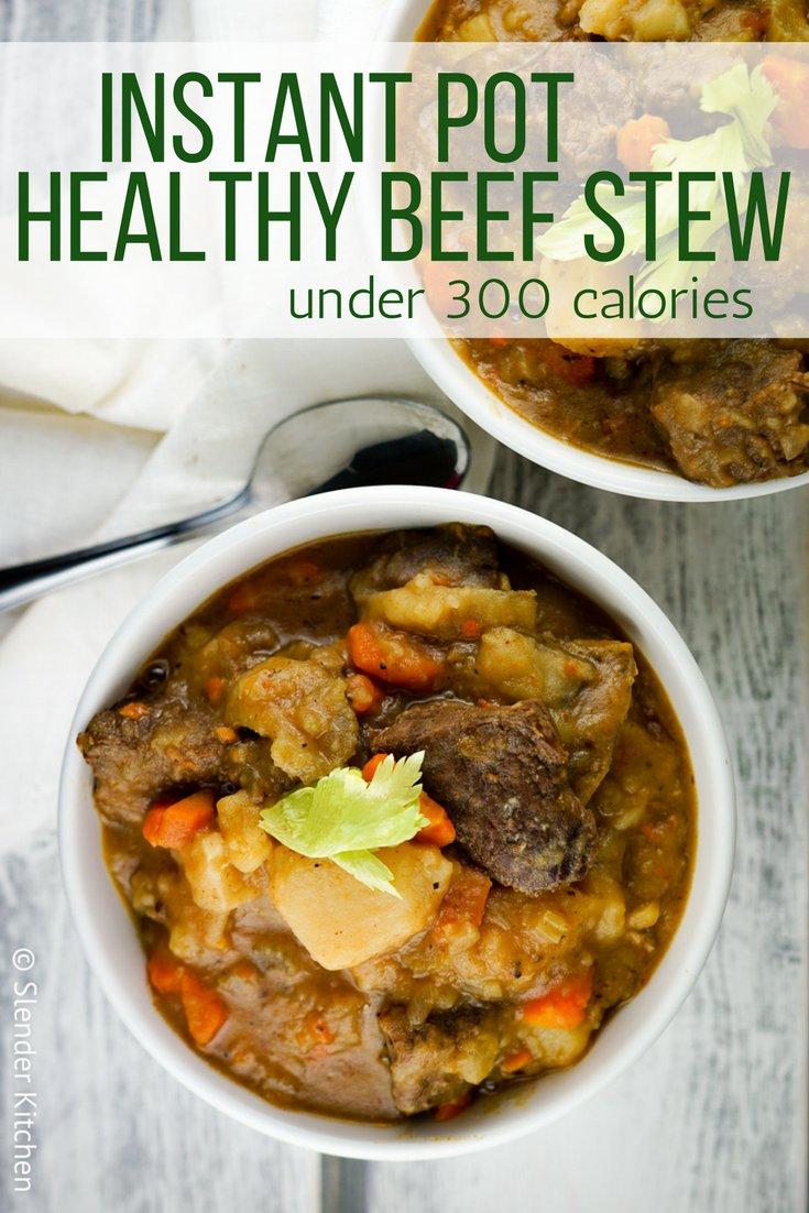 Healthy Instant Pot Beef Stew (or Slow Cooker)