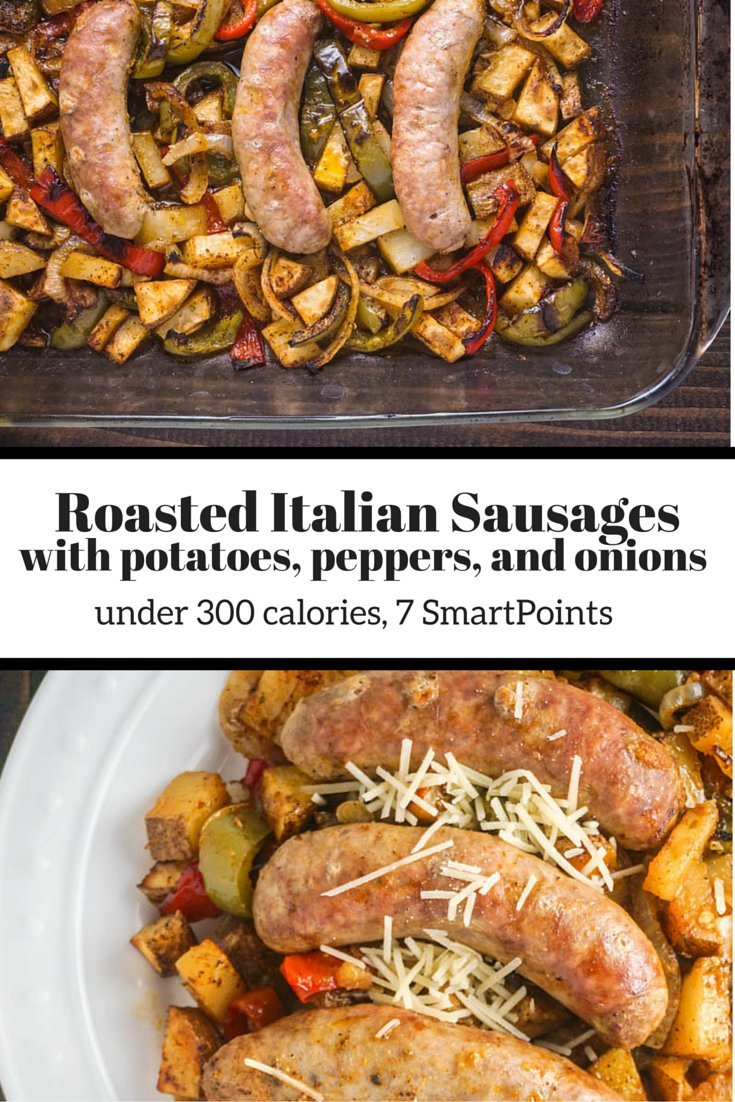 Roasted Italian Sausages with Potatoes, Peppers, and Onions