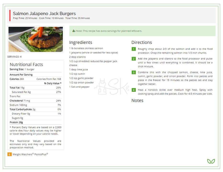Meal Plan Sample Slender Kitchen – Sample Meal Planning
