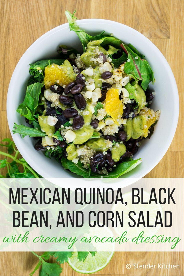 Mexican Quinoa, Black Bean, and Corn Salad with Creamy ...