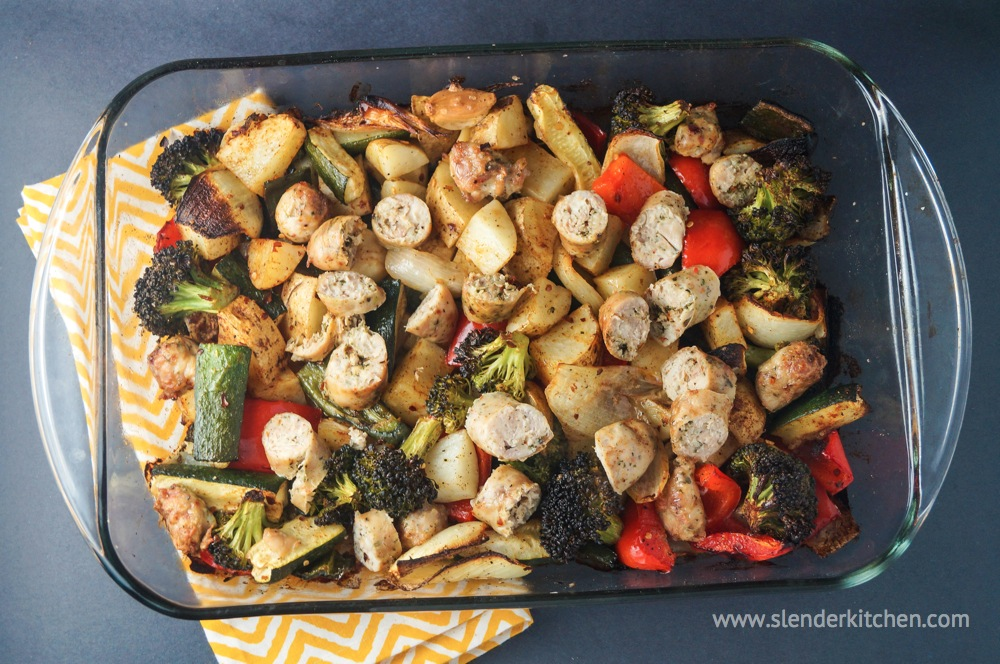 Sausage, Potato, and Veggie Bake - Slender Kitchen
