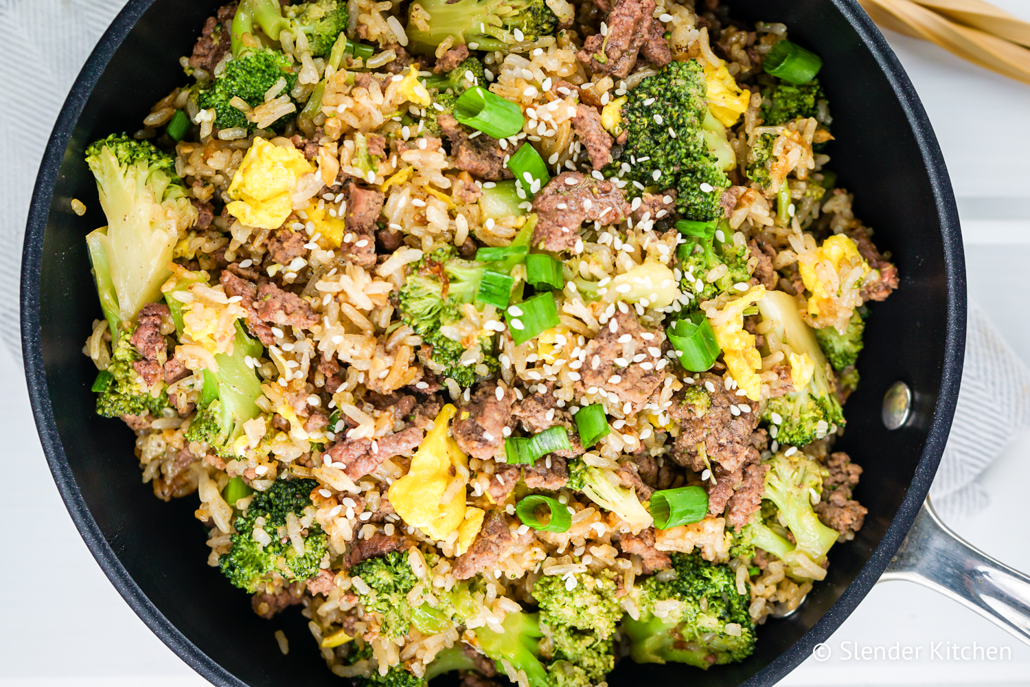 Beef and Broccoli Fried Rice - Slender Kitchen