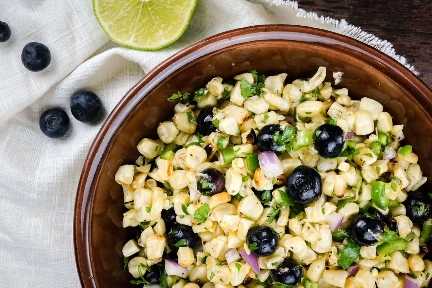 Blueberry Corn Salad with Honey Lime Vinaigrette is packed with fresh ...