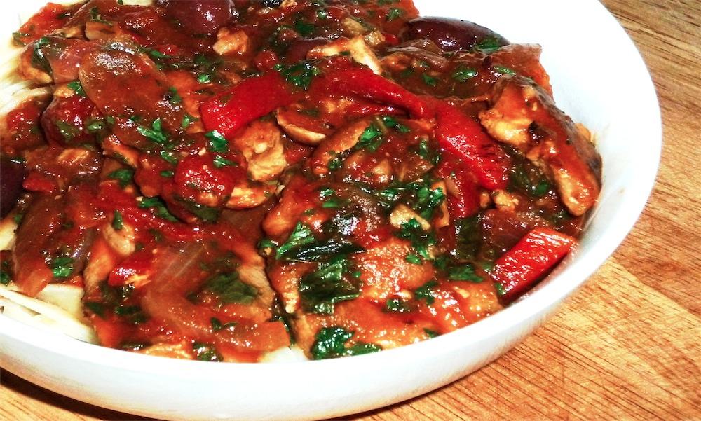 Sunday Slow Cooker: Chicken Cacciatore - Slender Kitchen