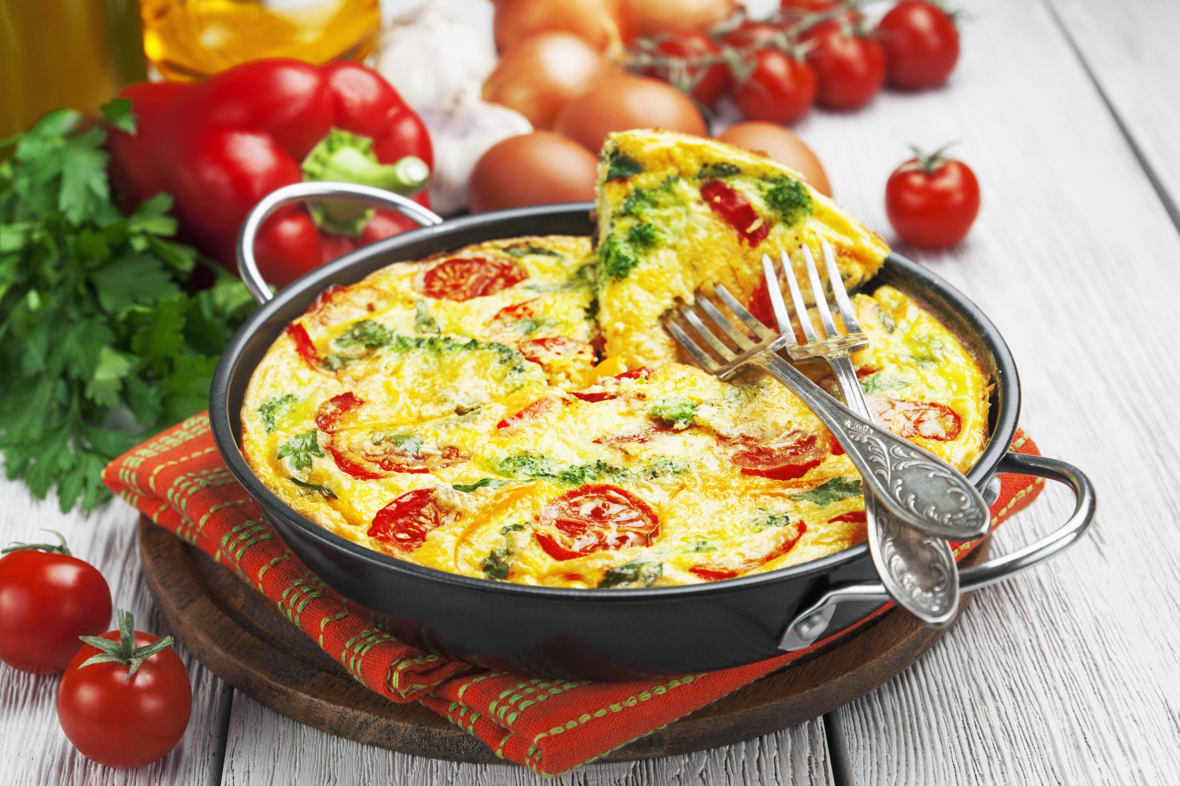 Italian breakfast frittata slender kitchen for Italian breakfast