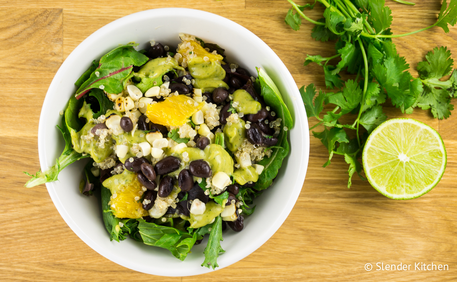 Avocado And Corn Salad With Creamy Avocado Dressing Recipes ...