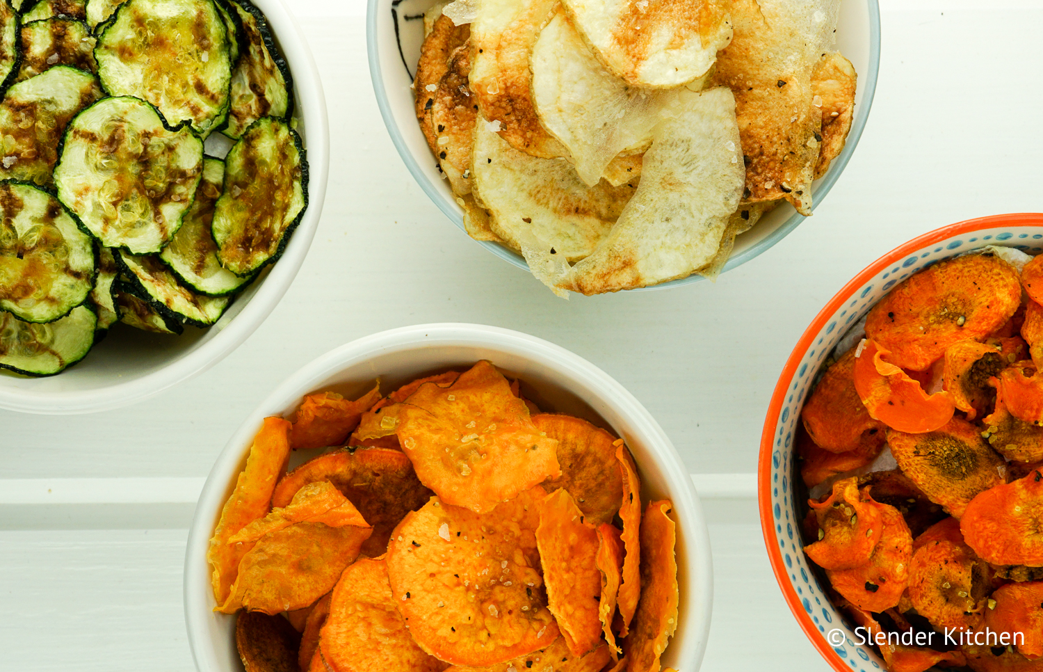 Microwave veggie chips slender kitchen microwave veggie chips made with sweet potatoes zucchini carrots or regular potatoes for forumfinder Choice Image