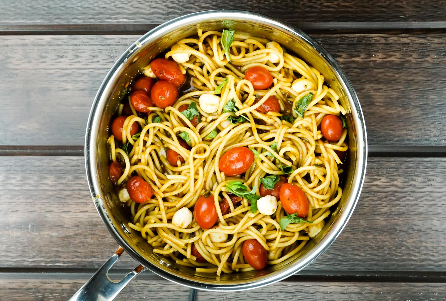 one pot caprese pasta slender kitchen