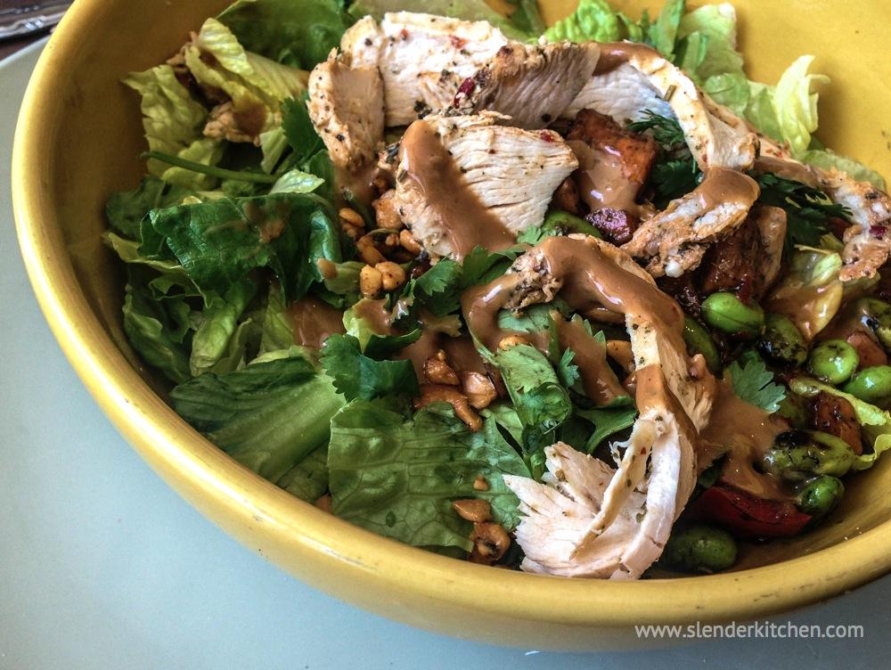 Sweet Chili Chicken Salad - Slender Kitchen
