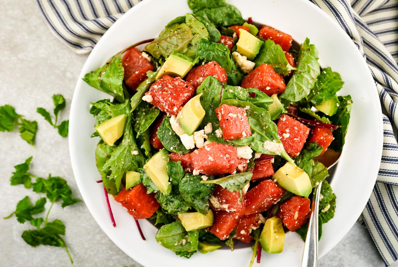 Watermelon and Avocado Salad with Honey Lime Vinaigrette ...