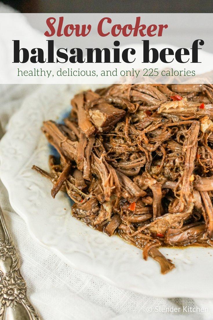 Slow Cooker Balsamic Beef Roast