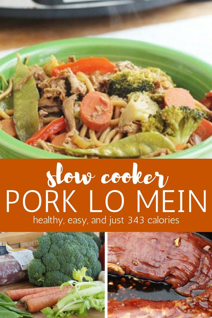 Slow Cooker Pork Lo Mein