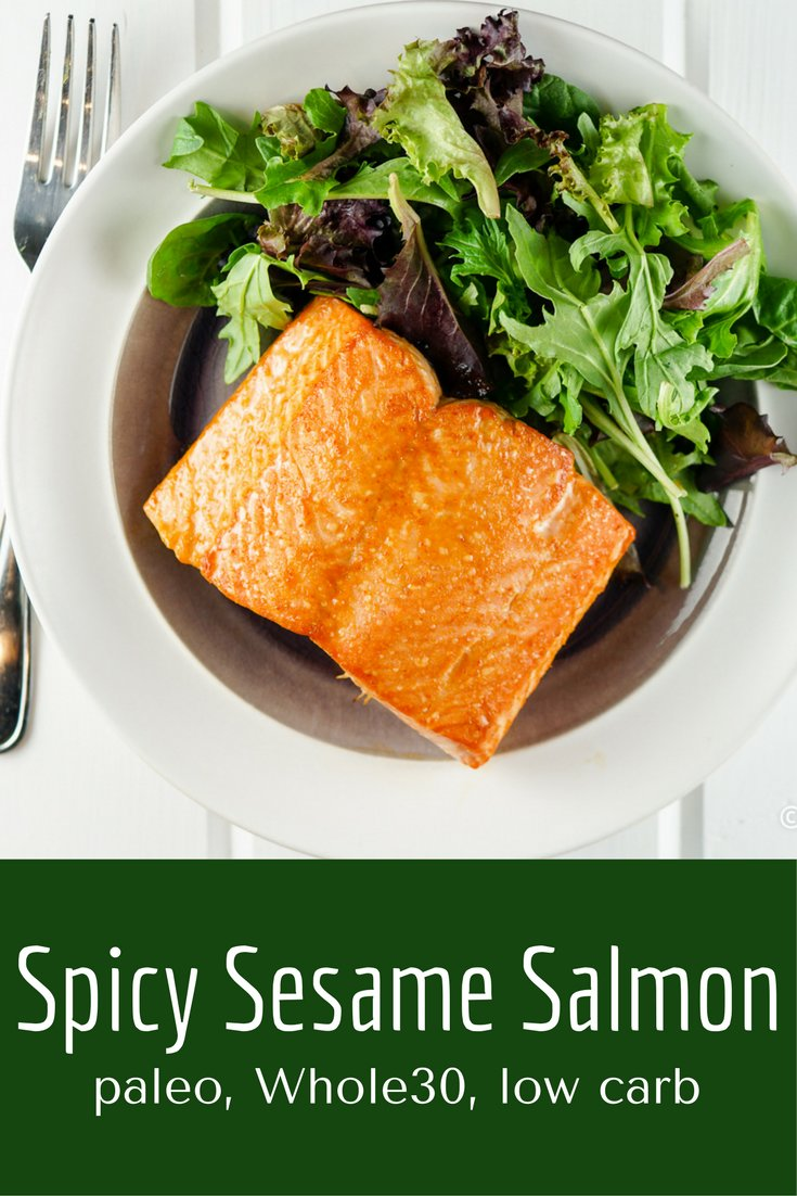 Spicy Sesame Salmon