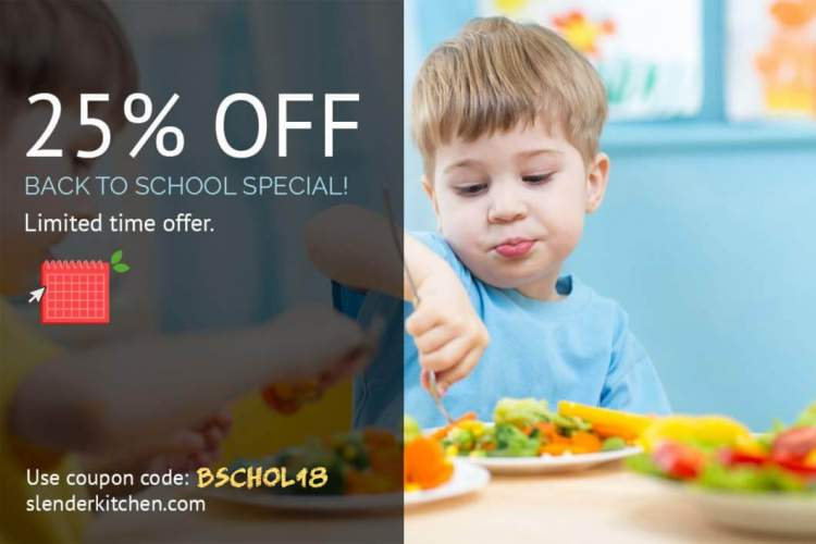 Slender Kitchen Back to School Special 25% off Meal Planning Tools