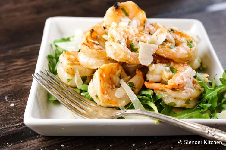 Garlic Parmesan Shrimp are ready in under 15 minutes and full of flavor.