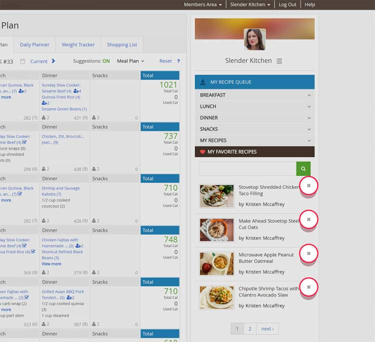 Remove recipes from your recipe queue fast & easy!