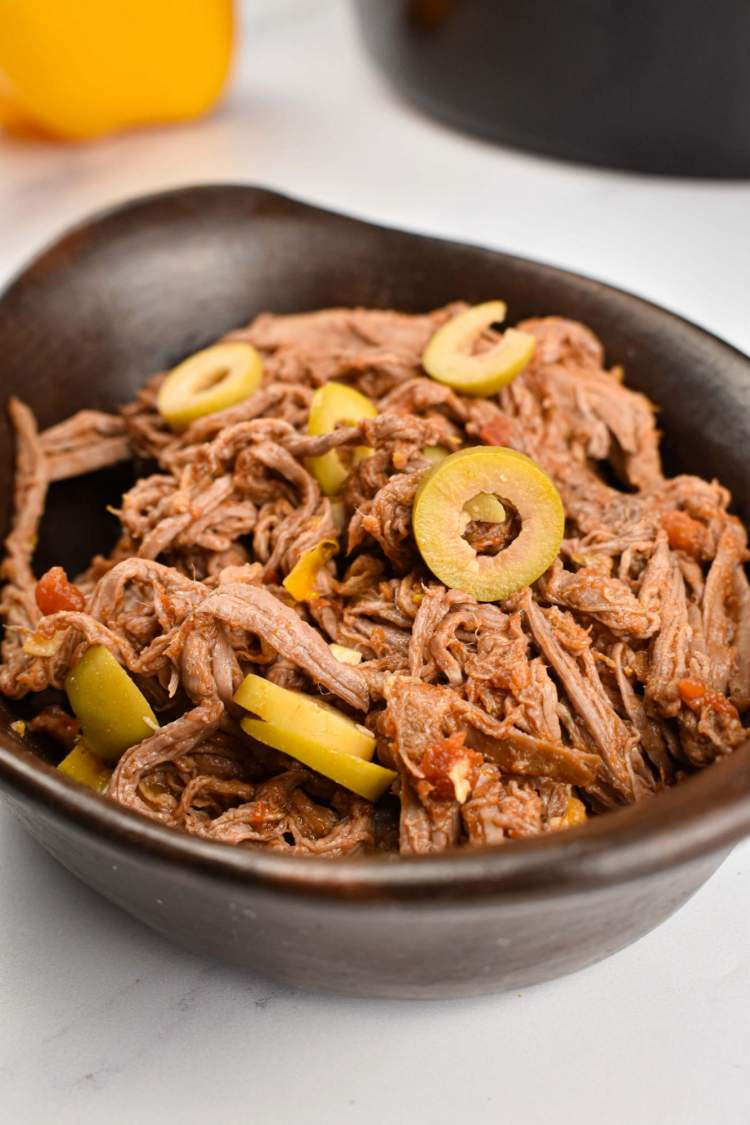 Ropa vieja with lean flank steak that