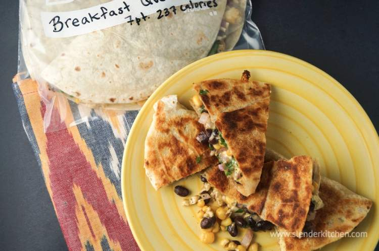 Frozen Breakfast Quesadillas are perfect to have in the freezer for a quick and easy breakfast.