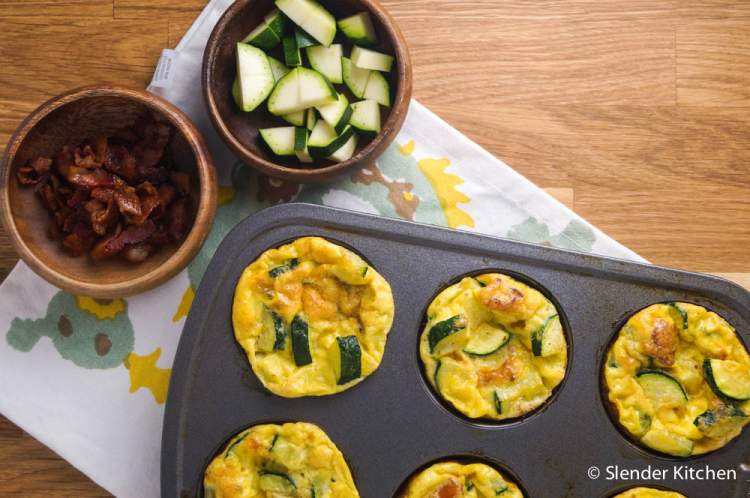 Bacon, Egg, and Zucchini Egg Muffins.