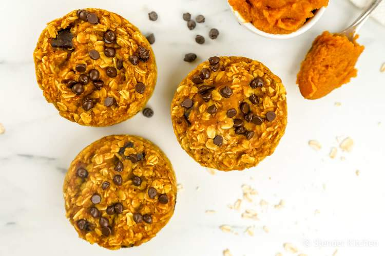 Baked Pumpkin Chocolate Chip Oatmeal for breakfast in this week