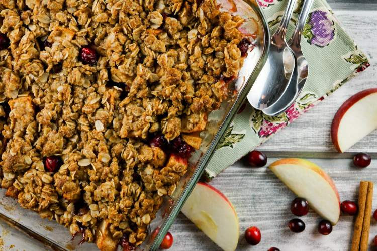 Cranberry Apple Baked Oatmeal for breakfast in this week
