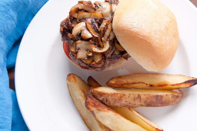 Mushroom Burgers for dinner on Friday in the weekly meal plan.