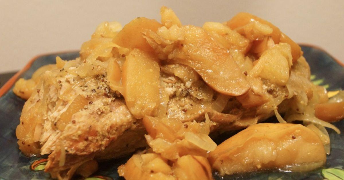 Sunday Slow Cooker: Pork Tenderloin and Apples - Slender Kitchen
