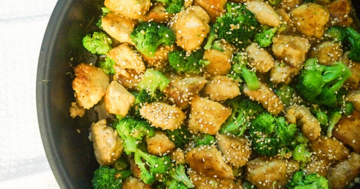 Low Carb Sesame Chicken And Broccoli Slender Kitchen