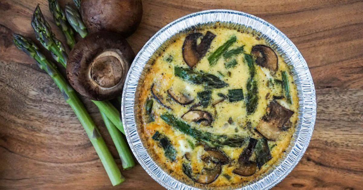 Asparagus and Mushroom Quinoa Frittatas - Slender Kitchen