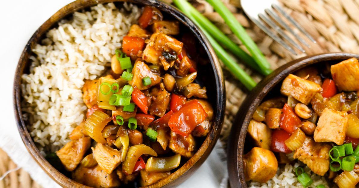 Healthy Kung Pao Chicken Slender Kitchen