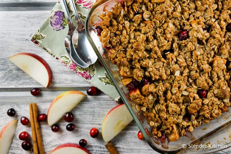 Cinnamon Cranberry Apple Crisp
