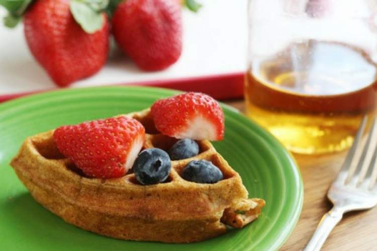 Protein Packed Oat Waffles