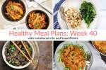 Healthy Meal Plans Week 40