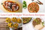 Low Carb Weight Watchers recipes including spaghetti squash, cabbage soup, quiche muffins, and Thai beef.