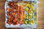 One Pan Blackened Cod, Butternut Squash, and Summer Squash
