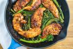 One Pan Mustard Balsamic Chicken and Broccolini