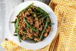 Spicy Ground Turkey and Green Bean Stir-fry