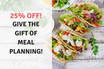 Give the gift of meal planning with 25% off a 2 month, 6 month, or year long subscription to Slender Kitchen Meal Plans!