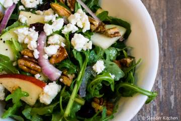 Arugula and Apple Salad with Goat Cheese and Pecans