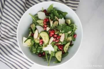 Arugula, Cucumber, and Pomegranate Salad