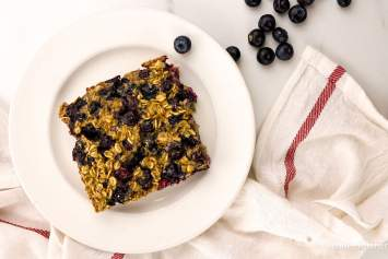 Baked Blueberry Buttermilk Oatmeal